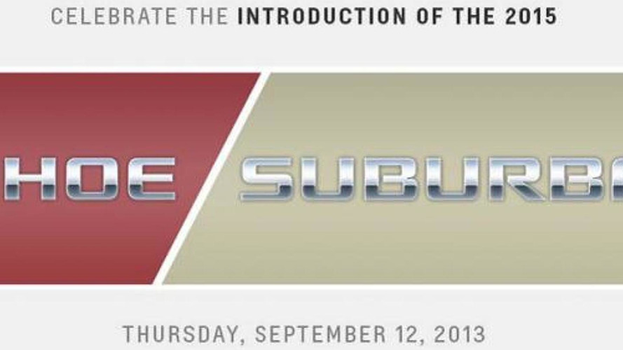 2015 Chevrolet Tahoe & Suburban to debut on September 12th