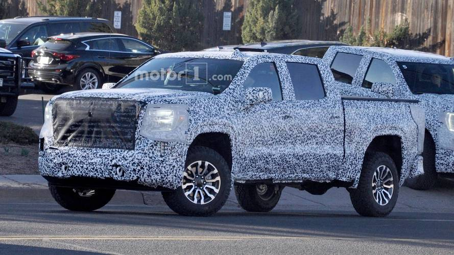 GMC Sierra All-Terrain Spied Riding High, Still Wearing Camo