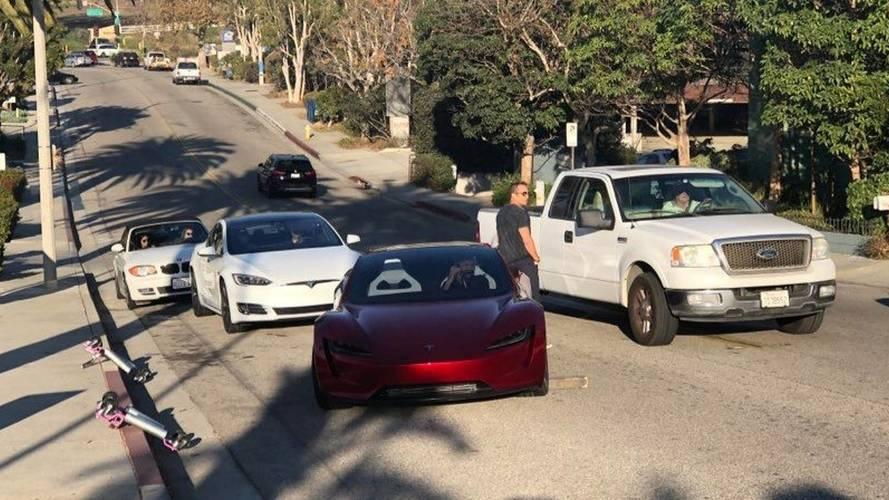 Tesla Roadster en Californie