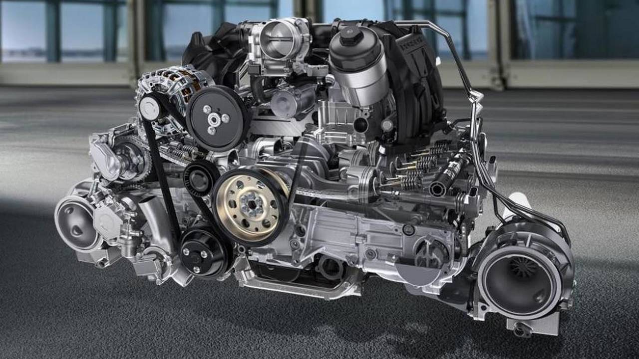 6 cylindres - Moteur 3,8 boxer de Porsche