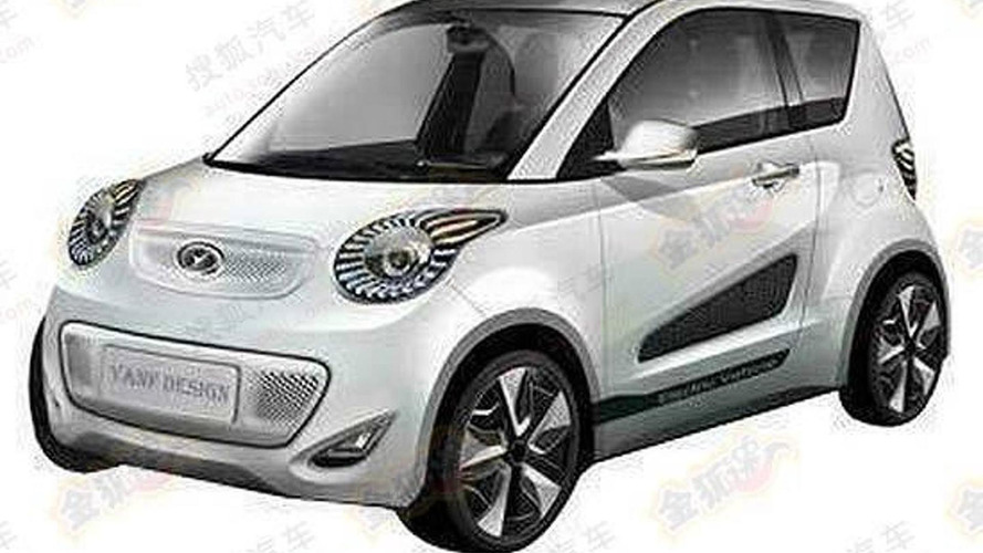 Chinese automaker patents a Smart ForSpeed-like model