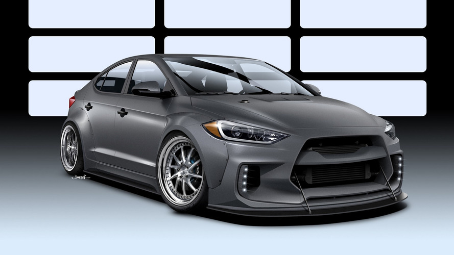 Hyundai Elantra turned into road racer for SEMA