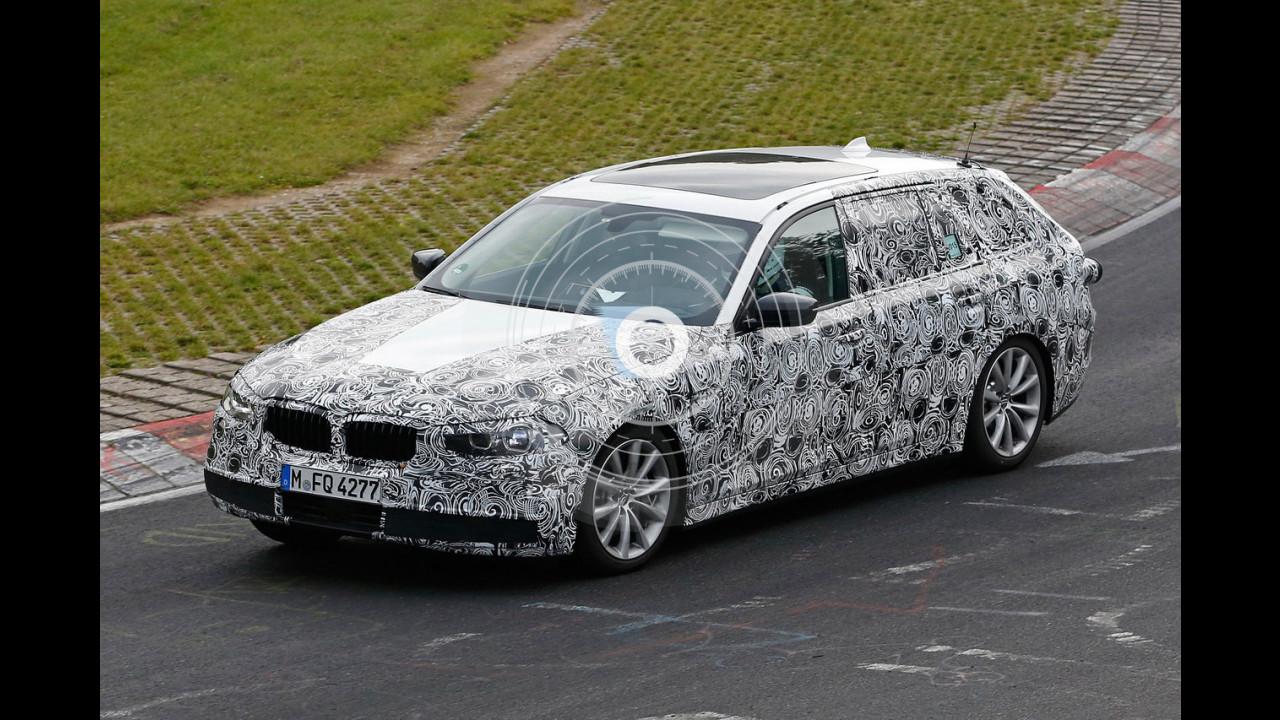 Nuova BMW Serie 5 Touring, foto spia
