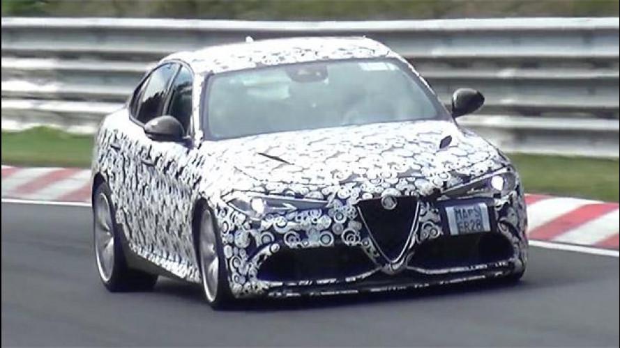 Alfa Romeo Giulia, un tuono al Nürburgring [VIDEO]