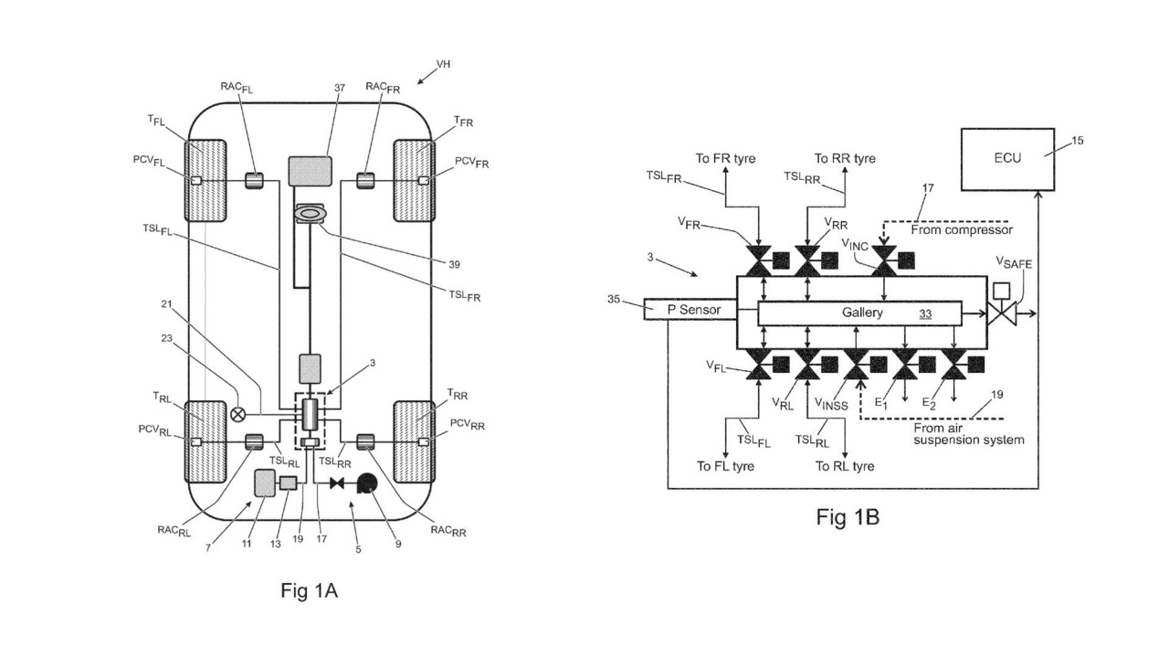 Land Rover Tire Pressure Patent