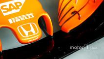 Honda logo on the nose of the McLaren MCL32