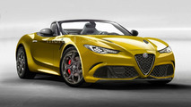 Alfa Romeo 6C spider rendering