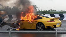 Porsche 997 Turbo accident