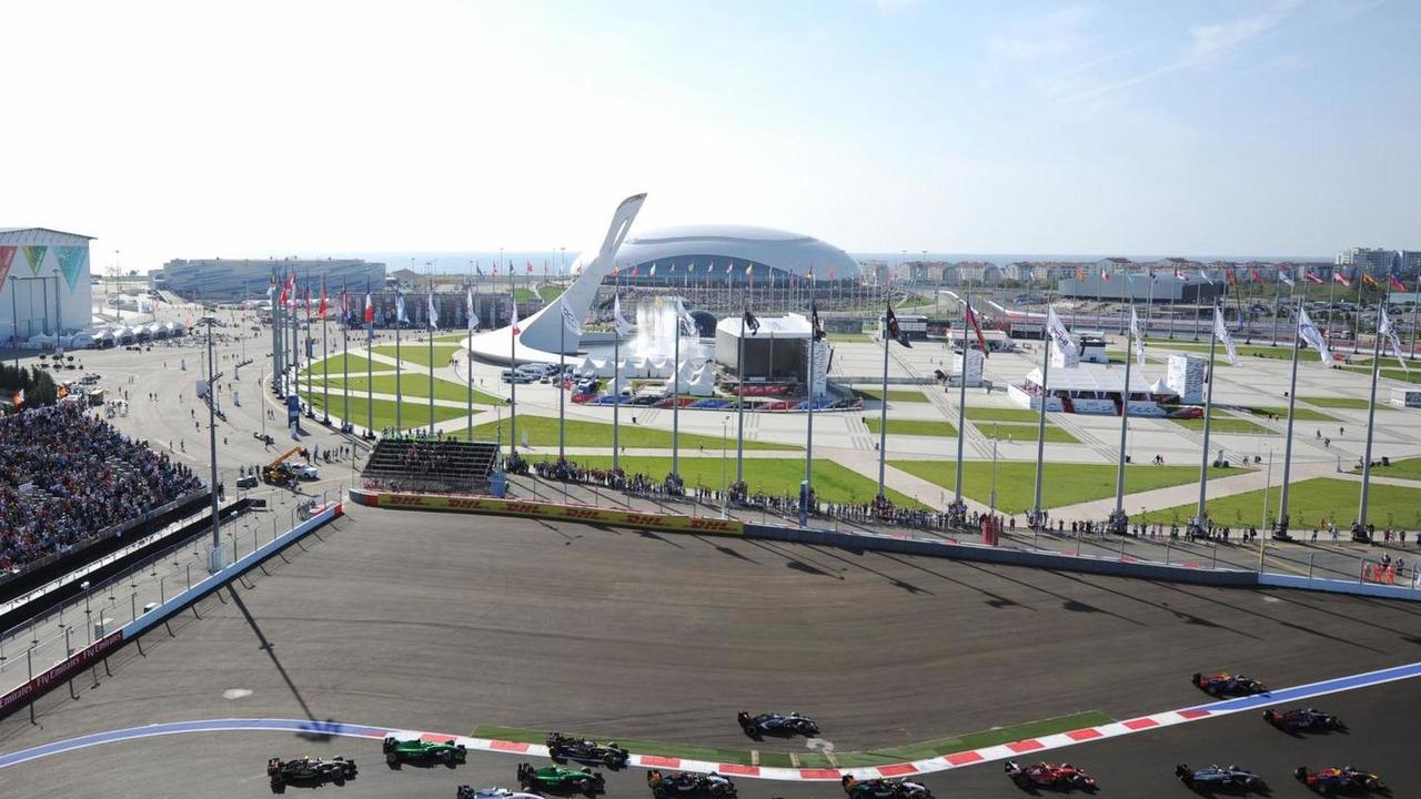 The start of the race, 12.10.2014, Russian Grand Prix, Sochi Autodrom / XPB