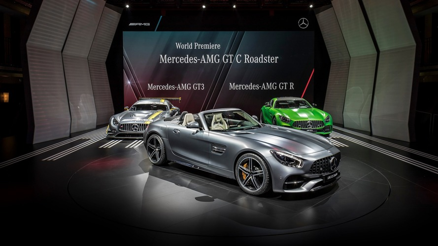 Mercedes-AMG GT and GT C Roadsters unveiled in Paris