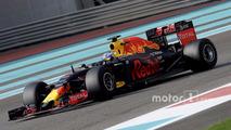 Daniel Ricciardo, Red Bull Racing testing the new 2017 Pirelli tyres