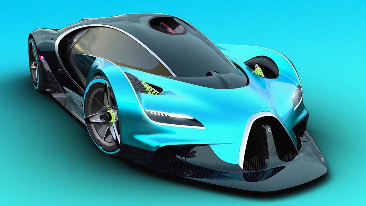 Bugatti Hypercar Rendering