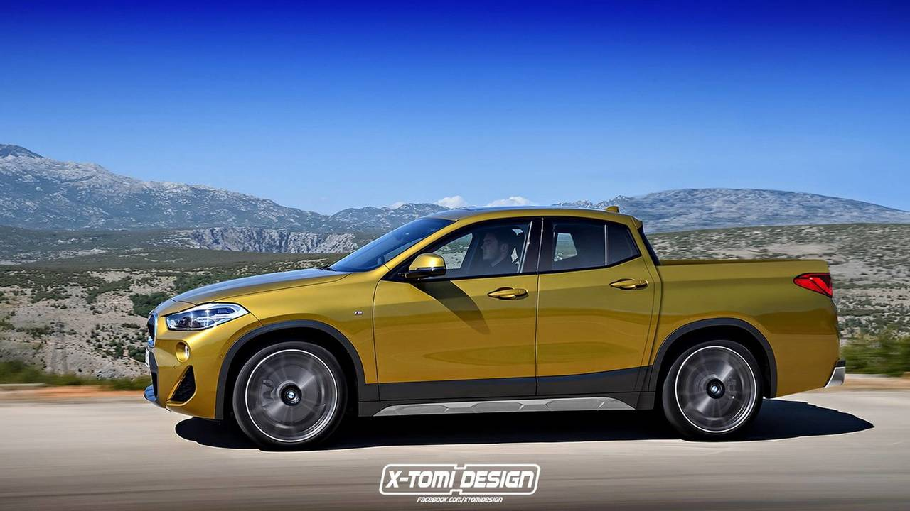 bmw x2 pickup cabrio renderings photos. Black Bedroom Furniture Sets. Home Design Ideas
