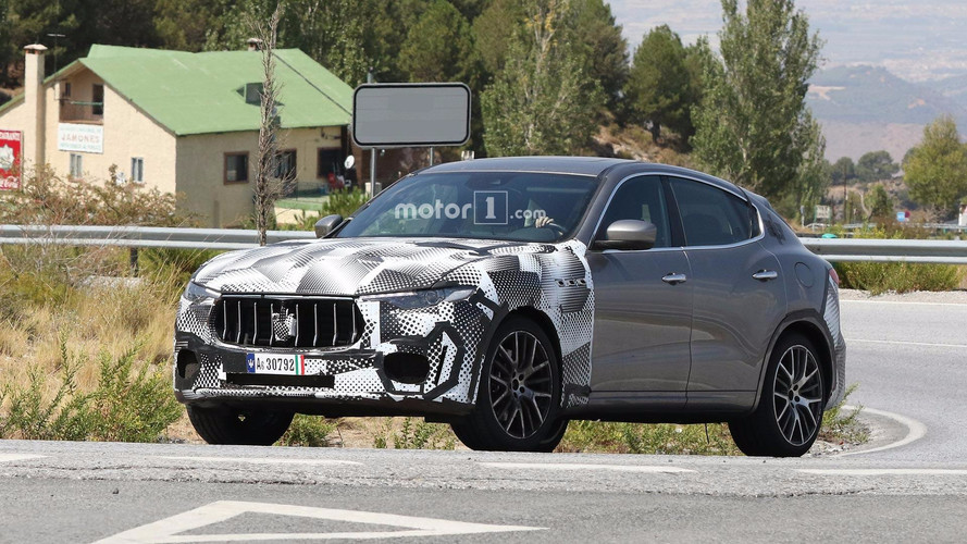 Maserati Levante GTS casuslara yakalandı