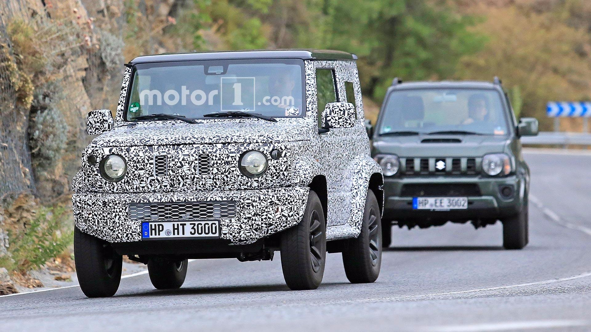 next gen suzuki jimny spied testing with current model. Black Bedroom Furniture Sets. Home Design Ideas
