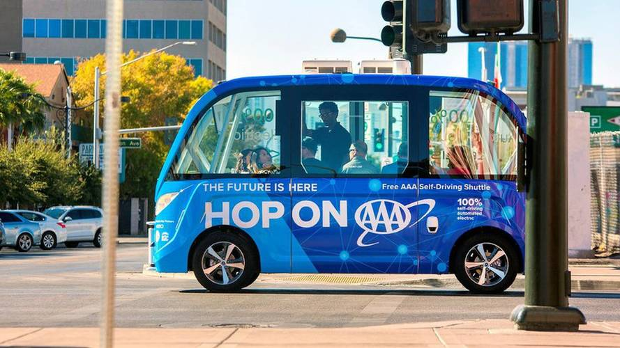 First U.S. Public Autonomous Shuttle Launches In Vegas, Crashes Shortly Thereafter
