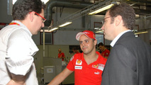 Felipe Massa and Stefano Domenicali in Maranello posing with Ferrari 458 Italia, 05.10.2009