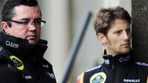 Eric Boullier with Romain Grosjean 07.06.2013 Canadian Grand Prix