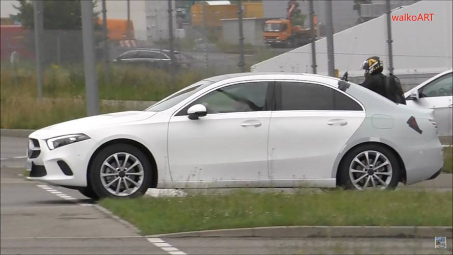 Mercedes A-Class saloon spied with barely any camo