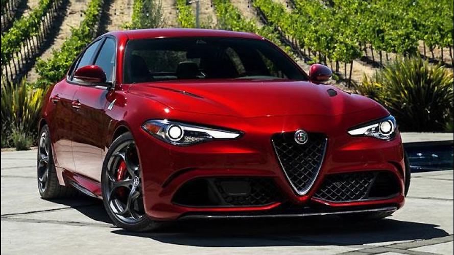 Alfa Romeo Giulia Quadrifoglio, le foto della versione per gli USA