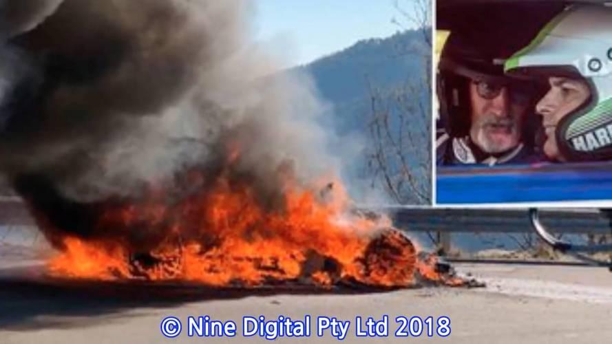 Une Alpine A110 prend feu lors du tournage de Top Gear