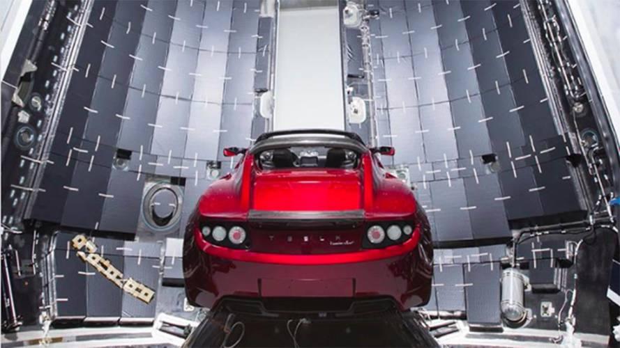 Tesla Roadster envoyé dans l'espace