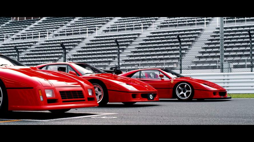 Japon derginin Ferrari 288 GTO Evo ve F40 LM videosu