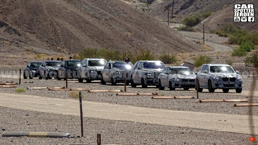 BMW, Rolls-Royce Prototype Convoy Spied Testing In Death Valley