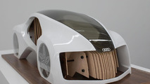 Audi Wood Aerodynamics concept y student Adrian Mankovecký from the Academy of Fine Arts and Design in Bratislava 26.11.2012