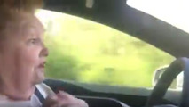 70-year-old lady testing Tesla's Autopilot