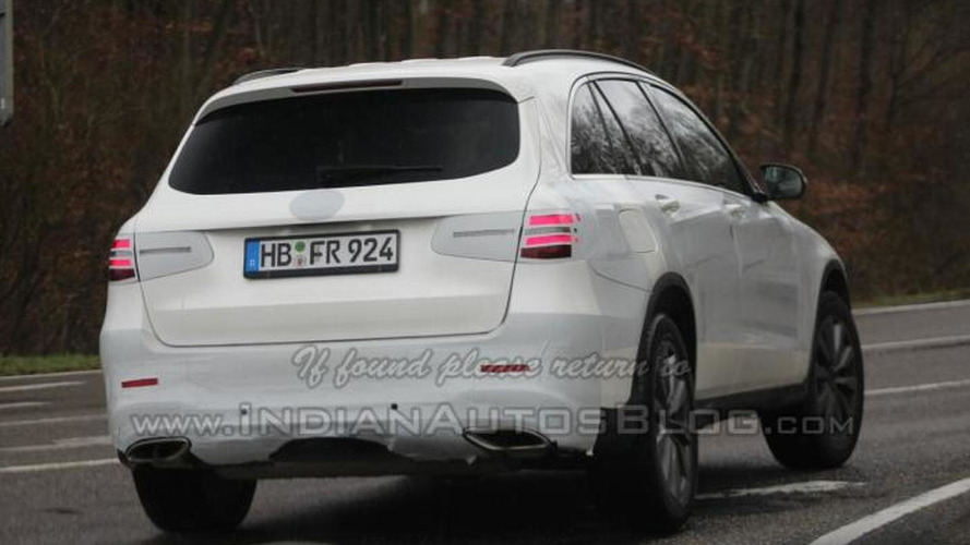 Mercedes GLC spied thinly camouflaged