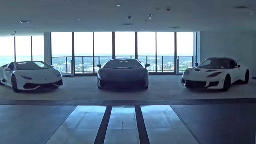 VIDÉO - Des supercars à l'interieur de la Porsche Design Tower à Miami