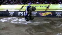 Monster truck backflip frontal