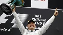 Nico Rosberg celebrates winning 2012 Chinese Grand Prix