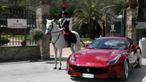 Ferrari FF and the mounted carabinieri regiment 07.5.2012
