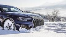 Audi RS4 Avant Navarra Blue at the Tatra Mountains in Poland