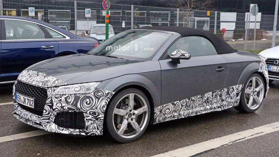 Audi TT RS Spied In Camouflage Hiding Upcoming Refresh