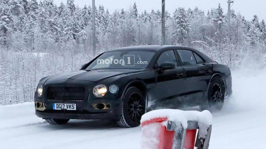 Photos espion - Tests hivernaux pour la future Bentley Flying Spur