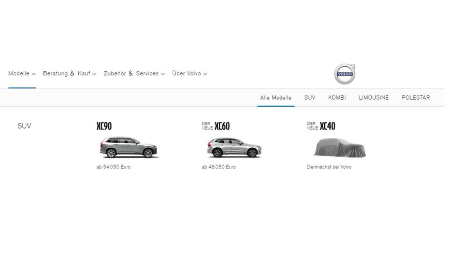 Volvo Eager To List XC40 In Some Of Its Regional Websites