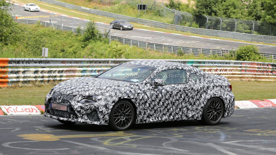 2015 Lexus RC F / IS F coupe spied on the Nurburgring