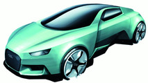 Audi Intelligent Emotion future mobility concept sketch by Niels Steinhoff