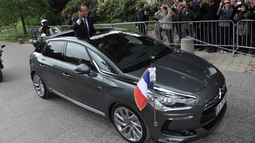 Limousines présidentielles - La Citroën DS 5 Hybrid4 de François Hollande