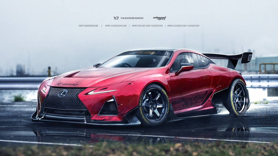 Lexus LC 500 rendered for GT3 and drift