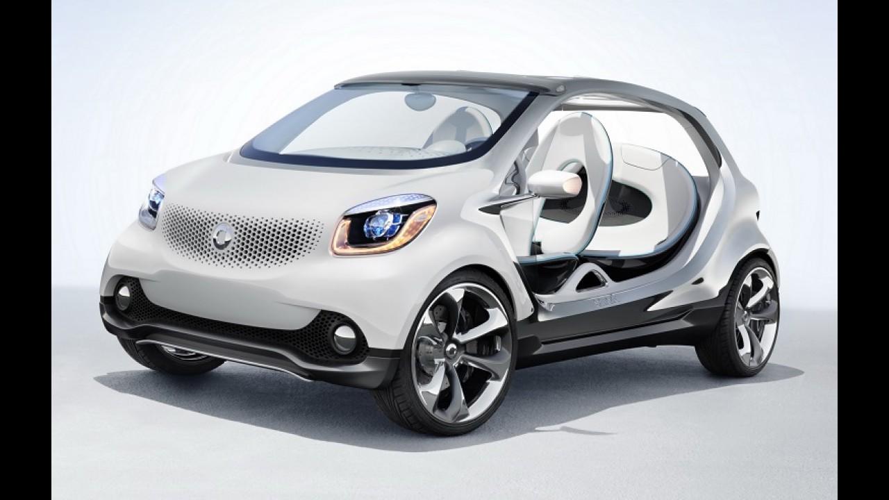 Novos ForTwo e ForFour vão compartilhar 70% das peças com o Renault Twingo