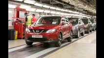 Nissan Qashqai bate recorde com 2 milhões de unidades produzidas no Reino Unido