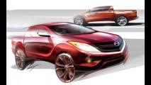 Mazda divulga esboço da nova picape BT-50