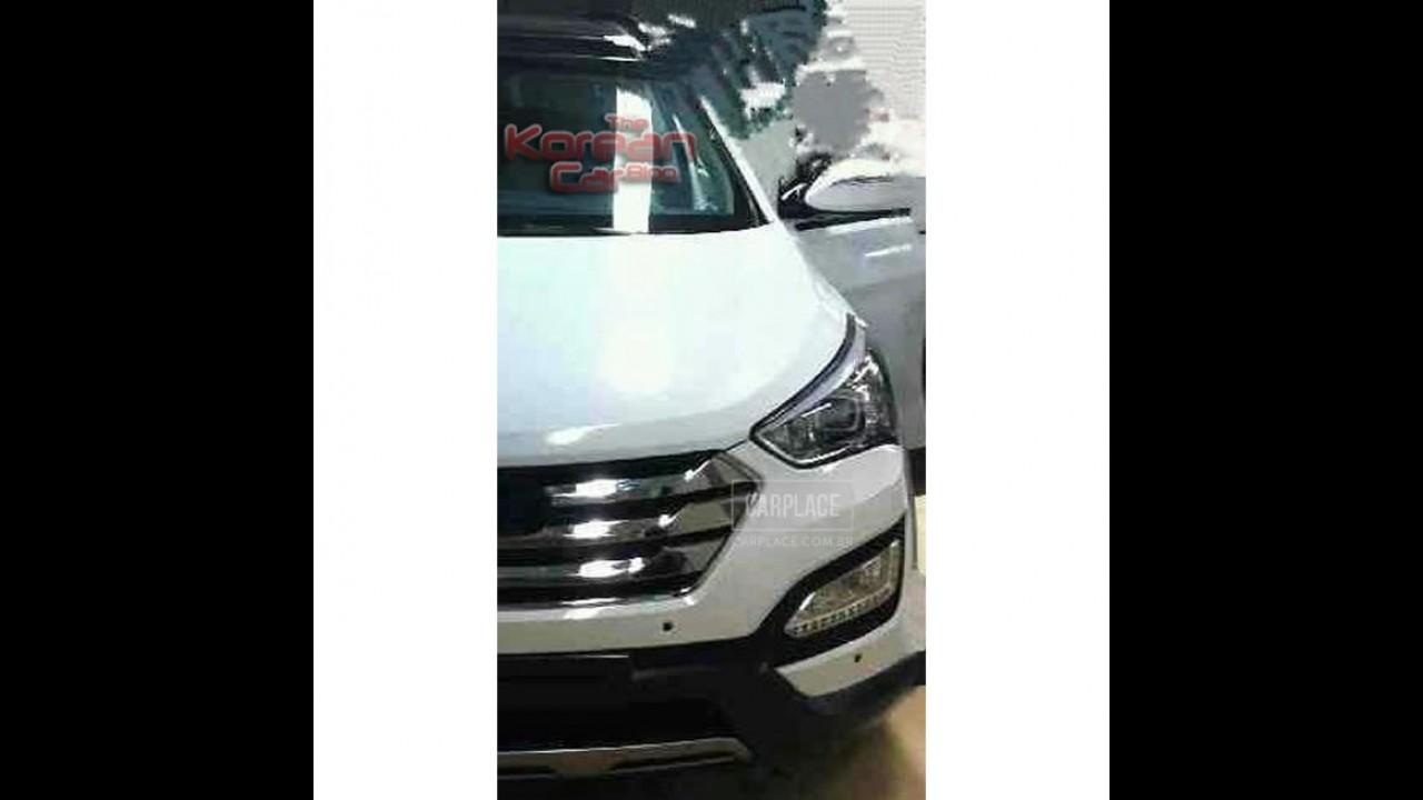 Novo Hyundai Santa Fé 2013 é flagrado - Visual fica semelhante ao do ix35