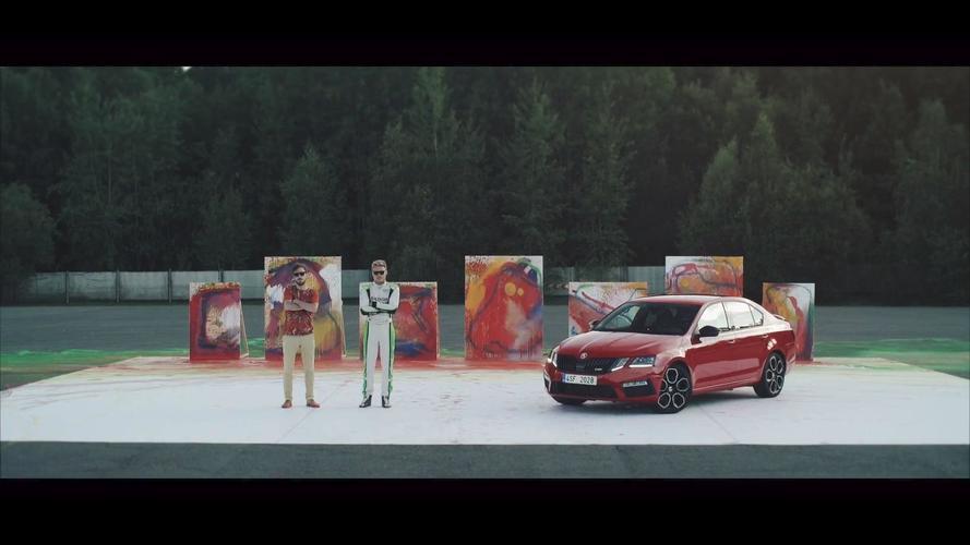 Skoda Octavia RS 245 RS Expresses Itself Through Abstract Art