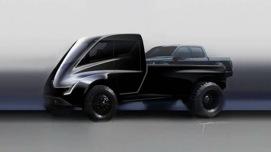 Picape elétrica da Tesla aparece em apresentação do caminhão Semi