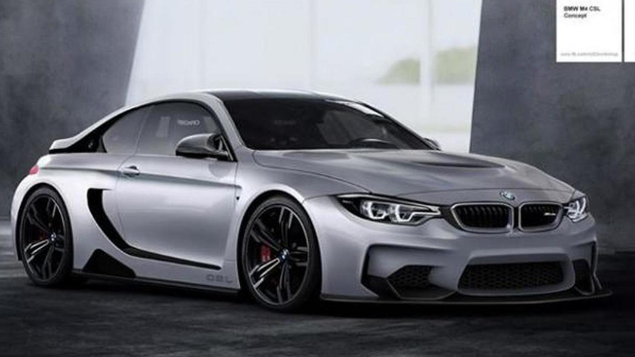 BMW M4 GTS Vision Concept rendering / r82 workchop